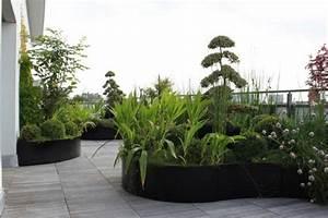 decoration de terrasse avec pots de fleurs maison design With chambre bébé design avec pot de fleur balcon pas cher