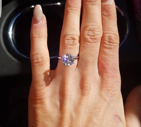 3 carat Engagement ring too big