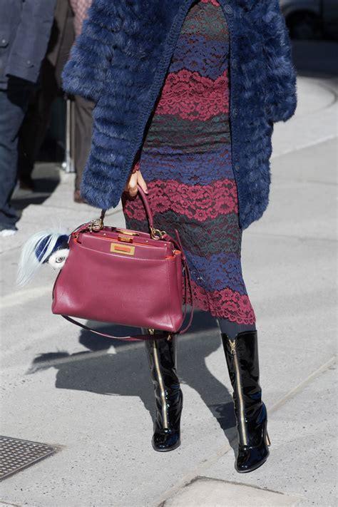 favorite street style handbag    york fashion weeks  purseblog