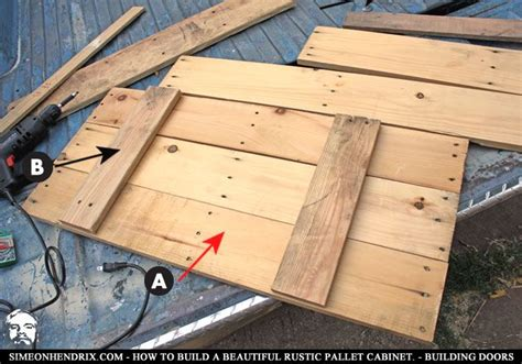 Kitchen Cabinet Doors From Pallets by Pallet Cabinet On Pallet Furniture Pallet