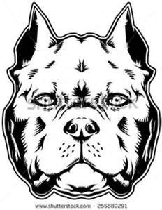 American Bully Outline Art - Bing images | Outline art, Pitbull drawing, Dog tattoos