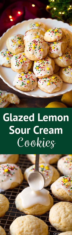 glazed lemon sour cream cookies cooking classy