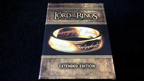 The Lord Of The Rings Extended Edition Trilogy Bluray