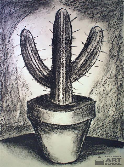 lesson cactus easy peasy art school