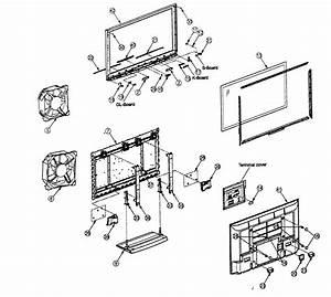 Panasonic Plasma Television Cabinet Parts