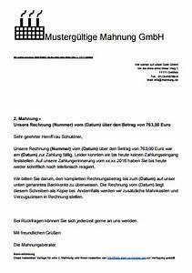 Formulierung Rechnung : mahnung schreiben mit muster und vorlagen ~ Themetempest.com Abrechnung