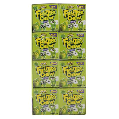 A double chin can be an unattractive feature. Jojo Fruties Apple Flavour Chewing Gum 18 gr Pack of 24   Wholesale   Tradeling