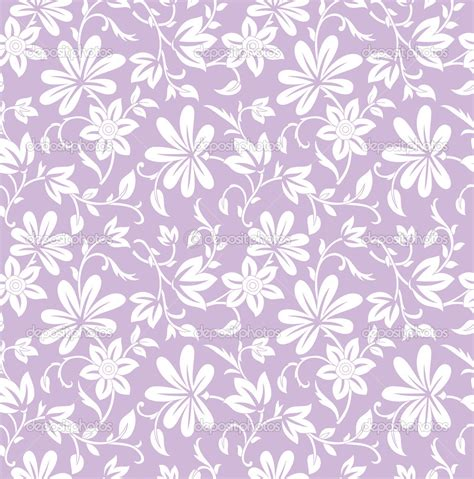 seamless purple floral background stock vector nilesh