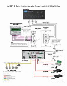 4 Input 100 70v  4 U03a9 Mixer Amplifier With Phd