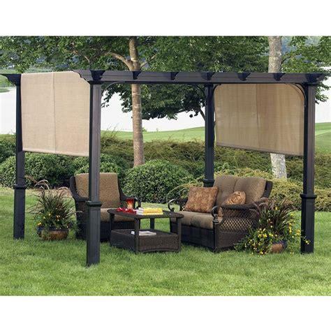 patio gazebo lowes shop garden treasures 134 in w x 134 in l x 92 in h x