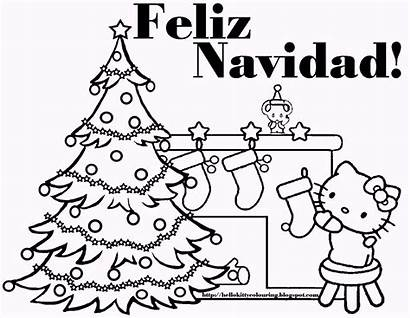 Navidad Feliz Coloring Pages Lyrics Christmas Spanish