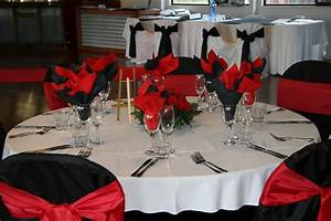wedding table decorations red black and white reception With black and red wedding ideas