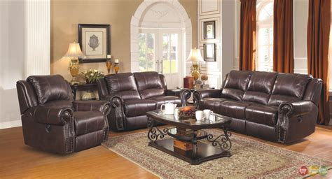 leather sofa set for living room sir rawlinson leather motion living room furniture
