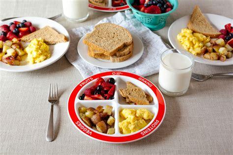 healthy balanced breakfast with myplate healthy ideas 234 | SHK Plates 074 1024x683