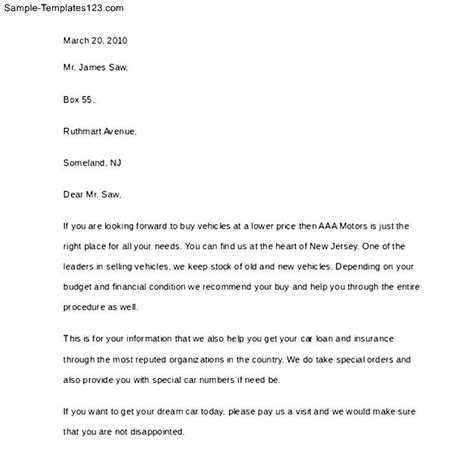 letter of intent to sell car sle sale offer letter