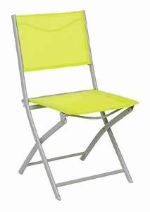 Chaise De Jardin Verte : chaise de jardin pliante m tal modula vert gris mat ~ Teatrodelosmanantiales.com Idées de Décoration