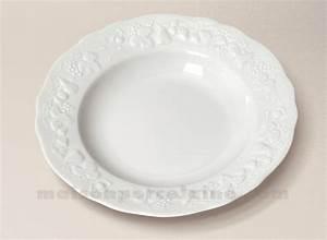 Assiette Creuse Blanche : assiette creuse aile california limoges porcelaine blanche ~ Teatrodelosmanantiales.com Idées de Décoration