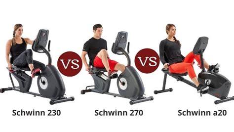 Schwinn 230 vs 270 vs a20 - Recumbent Bike Series