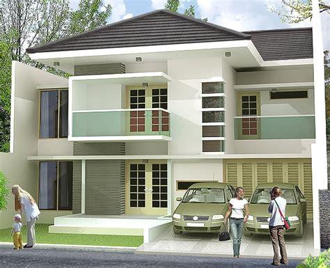 desain rumah mewah  lantai modern