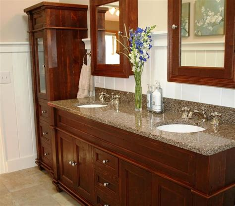 hand crafted antique reclaimed wood vanity vienna