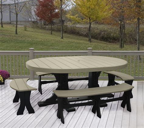oval kitchen table with bench oval table 5 bench dining set recycled patio