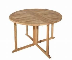 Table De Jardin Ronde En Bois : salon de jardin en teck sumbara 18 1 table ronde et 4 ~ Dailycaller-alerts.com Idées de Décoration