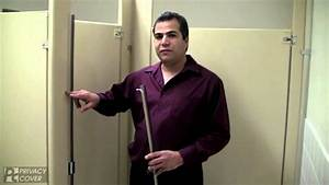 toilet partition privacy covers youtube With bathroom stall privacy strip