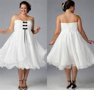 plus size bridesmaid dresses cheap custom white plus size wedding dresses 2015 with black bow strapless chiffon tea length