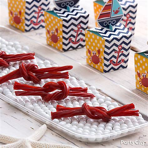 Licorice Ropes Candy Idea  Nautical Baby Shower Ideas