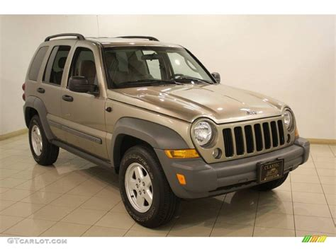 light brown jeep 2005 light khaki metallic jeep liberty sport 4x4 22430236