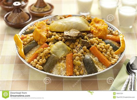 cuisine couscous traditionnel moroccan couscous dish stock image image of traditional