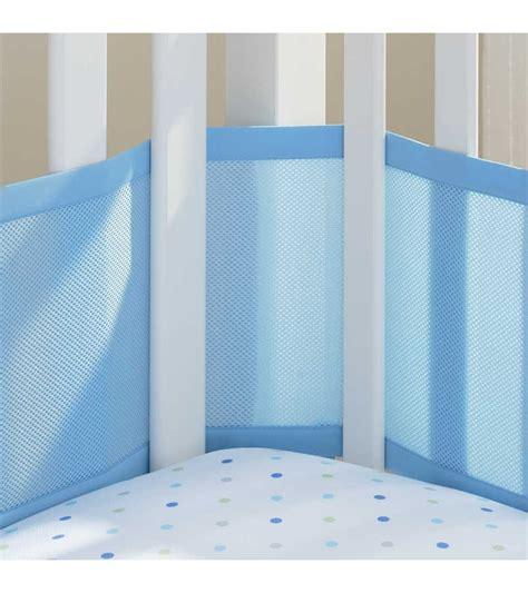 breathable mesh crib liner breathable baby mesh crib liner blue mist