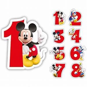 Mickey Mouse Geburtstag : bougie chiffre mickey et ses amis 6 cm prix minis sur ~ Orissabook.com Haus und Dekorationen