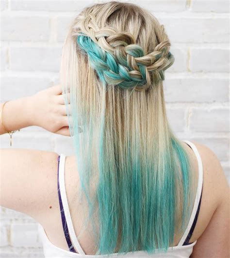 fairy  blue ombre hairstyles organized chaos