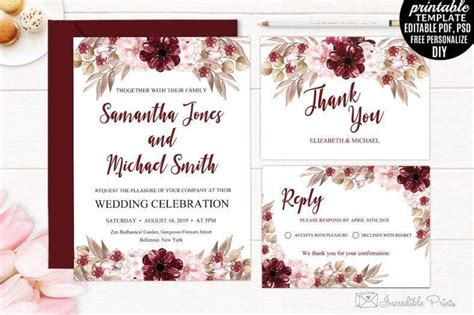 floral wedding invitation designs templates psd