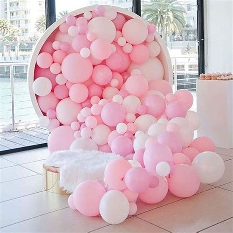 pink and white balloon decorations 20 balloon d 233 cor ideas for a kid s birthday