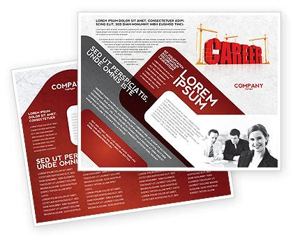 Career Brochure Template by Career Building Brochure Template Design And Layout