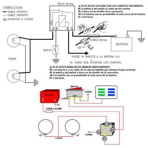 debate dibujo de como instalar relay  unos foco de luz