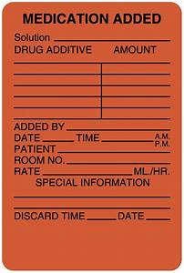 Red iv medication added labels 2quot x 3quot united ad label for Iv medication labels