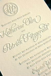 monogram wedding invitations letterpress invitations With letterpress wedding invitations price list