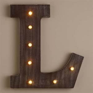 letter l led battery operated marquee light world market With battery operated lighted letters
