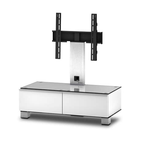 meuble tv sonorous md8095 c inx wht verre claire blanc