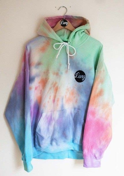 Hoodie Tie Dye Oversized Bright Colorful 90s Style Trippy