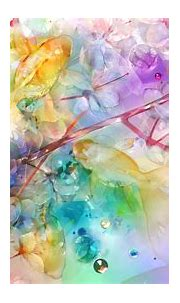 Spring Flower Colorful Pink Sakura Painting HD Abstract ...