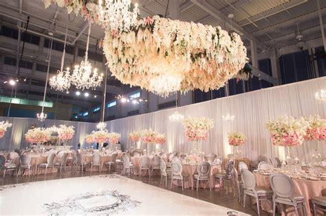 wedding ideas floral chandeliers ceiling installations