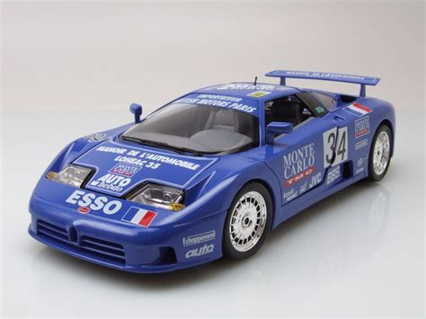 The car has not received any exterior modifications by the company with most of the modifications done to the interior and engine. Bugatti EB110 Super Sport Le Mans 1994 #34 blau ...