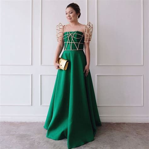 modern filipiniana cage butterfly sleeves designs  maizy
