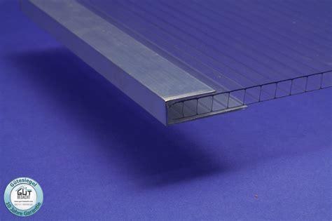 Stirnseitenabschlussprofil U Aus Aluminium Für Stegplatten