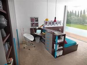 Schreibtisch Im Schlafzimmer : schreibtisch und bett als raumteiler f r das jugendzimmer ~ Sanjose-hotels-ca.com Haus und Dekorationen
