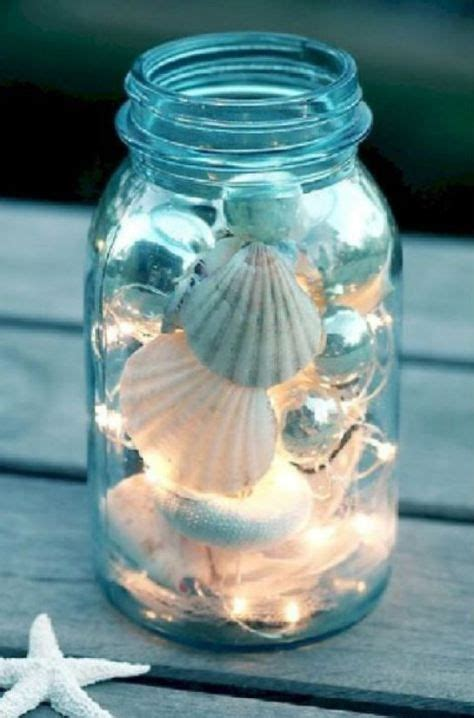 lovely seashell decoration ideas mason jar diy